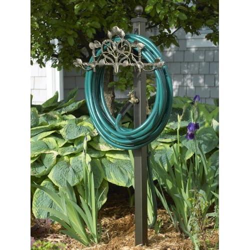 Decorative Hose Holder Station Garden Hose Reels Patio Lawn Garden