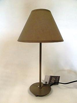 lampe pieds metal metal gris abat jour gris cuisine maison m229. Black Bedroom Furniture Sets. Home Design Ideas