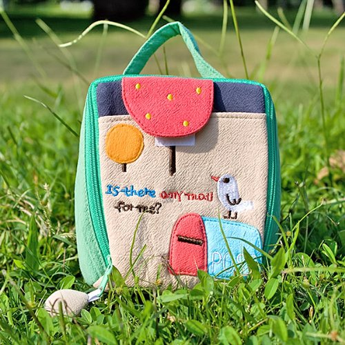 [Any Mail?] Embroidered Applique Cosmetic Bag / Camera bag / Hand Purse Wallet (4.9*4.7*2)