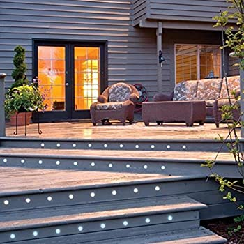 Pack of 30 QACA LED Deck Lighting Kits 12V Low Voltage Φ30mm Waterproof IP 67,Recessed LED Pathway Lighting for Steps,Stair,Patio,Floor,Pool Deck ,Kitchen,Outdoor LED Landscape Lighting Cool White