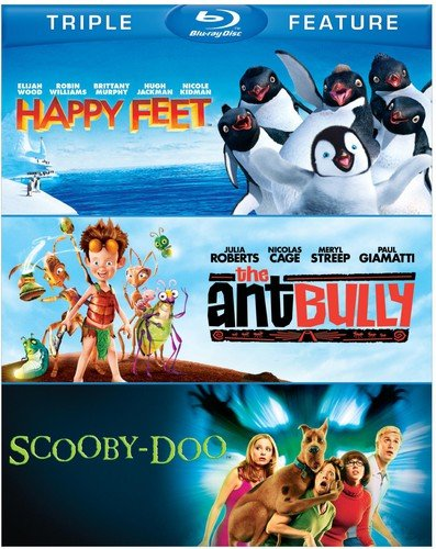 Blu-ray : Happy Feet/ The Ant Bully/ Scooby-Doo: The Movie (3 Pack, 3 Disc)