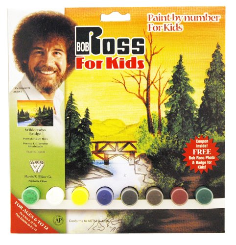 Bob Ross R6494 Paint by Number, Wilderness Bridge