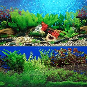 9085 12 x 48 fish tank background river bed for Fish tank decorations amazon