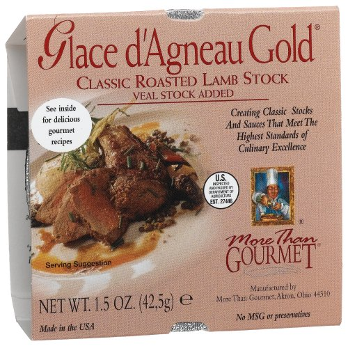 More Than Gourmet Glace D'agneau Gold Roasted Lamb Stock, 1.5-Ounce Packages (Pack of 6)