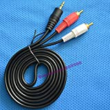 4.92FT 1.5m 3.5 To 2 3.5mm/2RCA High Quality Audio Cable Speaker Computer Wire