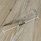 Generic 10inch : Stainless Steel Handle Egg Beater Drink Whisk Mixer Foamer Kitchen Egg Beater Mini Handle Mixer...