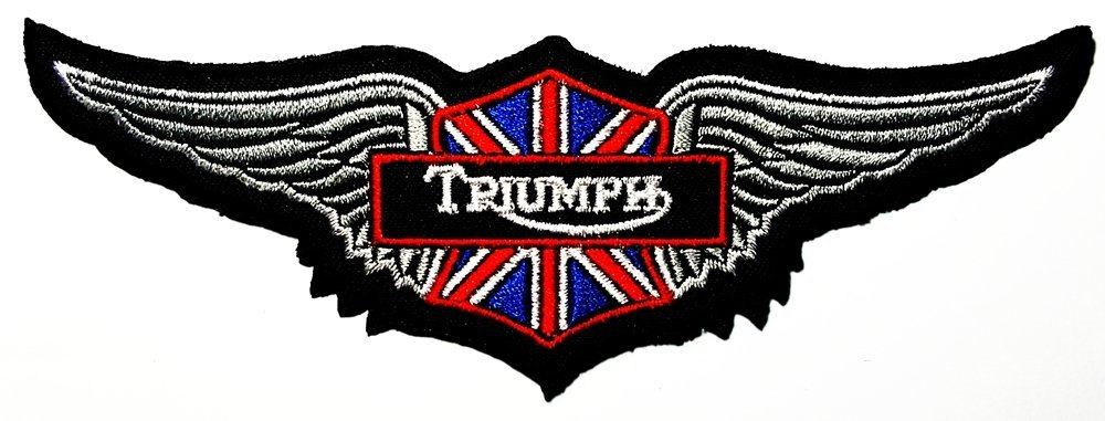 Triumph wing Motorcycles Racing Vintage Biker logo Patch Sew Iron on Embroidered 0
