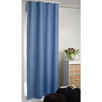 verdunklungsgardinen thermogardinen 135 x 245 cm mit universal kr uselband blau us60. Black Bedroom Furniture Sets. Home Design Ideas