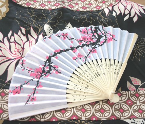 Set of 100 Cherry Blossom Fans Wedding Favors Can do any quanity you need.