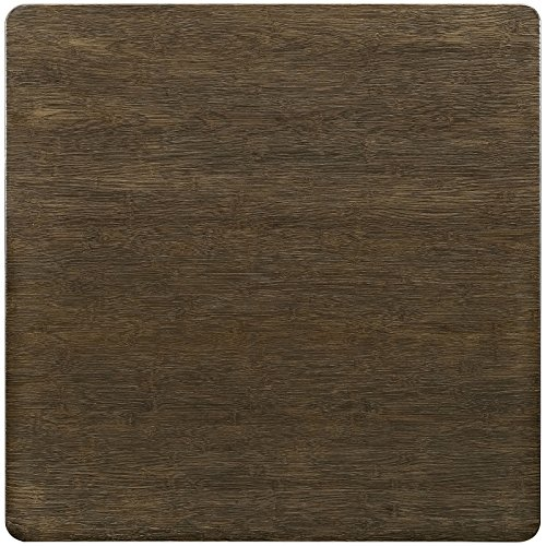 """LexMod Alacrity Square Wood Dining Table, Brown, 36"""" 3"""