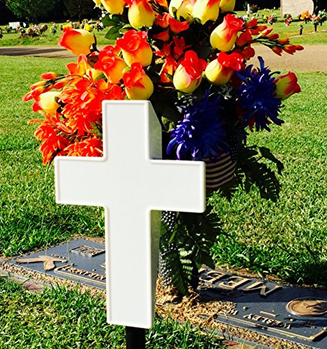 Christmas Grave Decorations Uk: Solar Lighted Cross Powered By God's Light