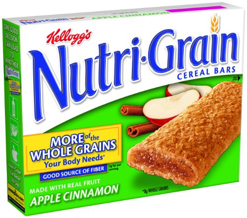 Nutri-Grain Cereal Bars, Apple Cinnamon, 8-Count Bars (Pack of 4)