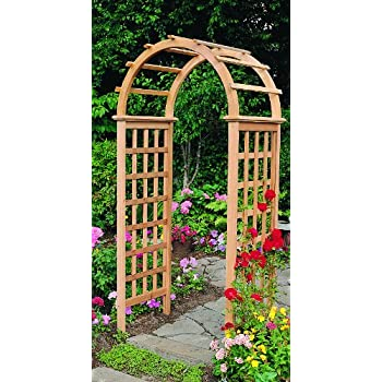 Arboria Victoria Garden Arbor Cedar Wood 7 Ft HighHigh With Arch Design