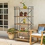 SOHO Antique Finish Outdoor Iron 5-Shelf Bookcase