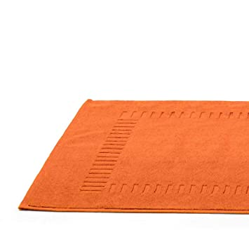 tapis de bain pure pure orange ponge 50x70 cm cuisine maison z293. Black Bedroom Furniture Sets. Home Design Ideas