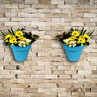 Wonderland Set Of 2 High Quality PP Wall Mounted & Vertical Garden Planter / Pots In Blue( Nail & Accessories...