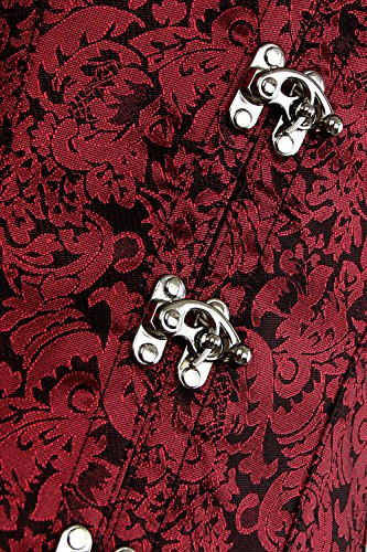 Charmian Women's Gothic Steampunk Brocade Steel Boned Waist Cincher Corset Vest 3