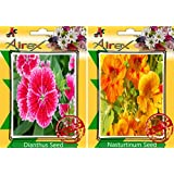 Airex Dianthus And Nasturtium Flower Seeds ( Pack Of 30 Seeds Per Packet)