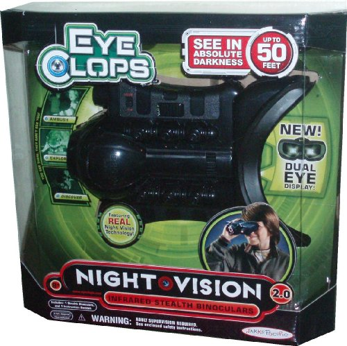 EyeClops Infrared Stealth Binoculars NIGHT VISION 2.0 with Dual Eye Display and See in Absolute Darkness for Up to 50 Feet