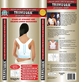 Milex Trademark Posture Support Corrective Back Bridge with Magnetic Therapy