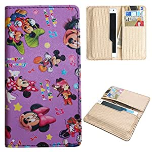 DooDa PU Leather Quality Wallet Case Cover With Card Slots Pouch For Panasonic Eluga L 4G