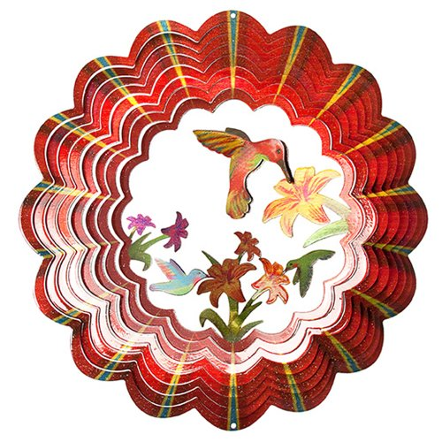 Iron Stop Designer 3D Hummingbird Wind Spinner