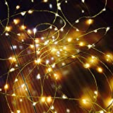 The Original Starry String Lights Warm White Color Leds on a Flexible Copper Wire - 20ft LED String Light with 120 Individually Mounted Leds. Set the Mood You Want Anywhere! - Perfect for Creating Instant Appeal in Any Setting - Parties, Bedrooms, or an Intimate Environment Anywhere in the Home, Waterproof Leds