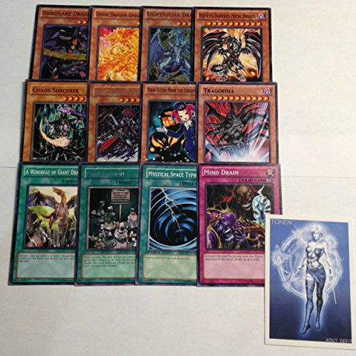 YUGIOH Tournament Ready Chaos Dragon Deck with Complete Side Deck and exclusive Phantasm Gaming Token