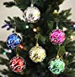 6pk 80mm Shatterproof Assorted Swirling Ball Ornaments