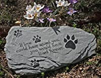 "Pet Memorial Stone ""If Love..."" EXCLUSIVE Design"