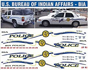 bill bozo us bureau of indian affairs police decals toys games. Black Bedroom Furniture Sets. Home Design Ideas