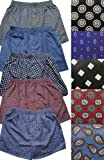Del Rossa Satin Boxer Shorts, Pack of 5 Printed Boxers, Printed Large (A0753PKBLG)