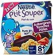 Nestl� B�b� P'tit Souper Aubergines Tomates P�tes - d�s 8 mois - 2 x 200g - Lot de 8 (16 pots de 200g)