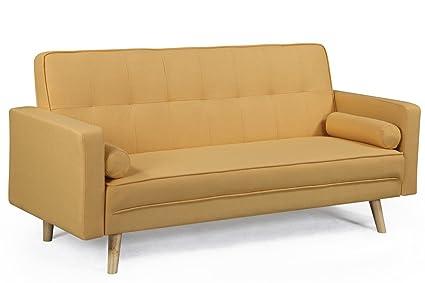 Boston gelb Stoff Sofa Bett
