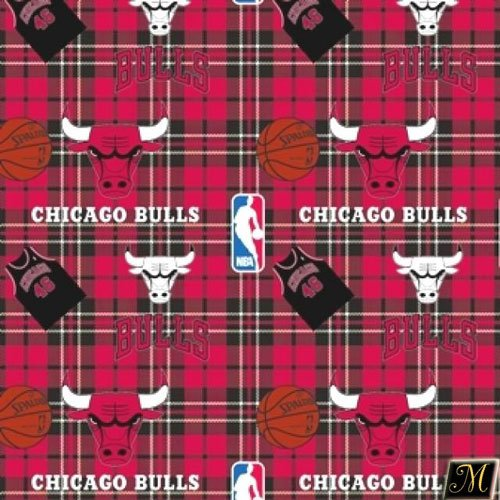 "60"" Wide NBA Chicago Bulls Wintry Fleece Fabric By The Yard at Amazon.com"