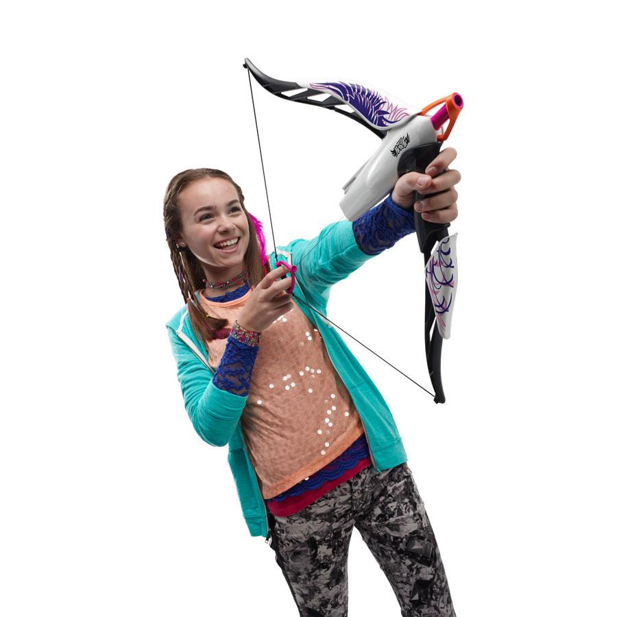 nerf rebelle heartbreaker bow phoenix design hunting girl