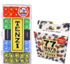 Tenzi Dice Game - Snazzy Set Marble, with 77 Ways to Play Tenzi Instruction Pack