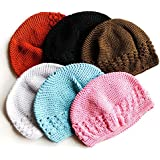 Qandsweet Baby Boy and Girl's Cute Handmade Weave Hat 0-12m (6pack)