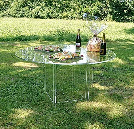 Table démontable transparent