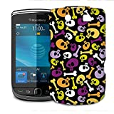 Cartoon Halloween Skulls Phone Hard Shell Case for BlackBerry Q10 Z10 Bold Curve Torch & more - BlackBerry Torch 9800 9810