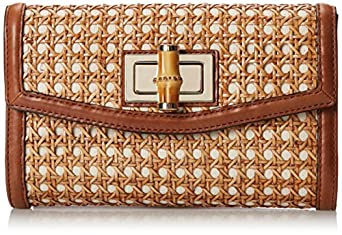 kate spade new york Laguna Court Caning Adelaide Clutch,Natural,One Size