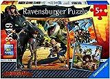 Ravensburger 09258 Dragons: Drachenreiter, 3 x 49 Teile Puzzle
