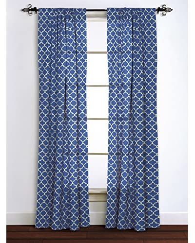 Rizzy Home Blue Moroccan Window Panel