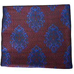 Shahlon Unstitched Menswear Jacket Jacquard Fabric (SHJAC002_Red & Blue_Free Size)