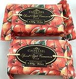 Two Bar Set, Castelbel Spiced Cinnamon Apple 300 Gram Large Luxury Soap Bar