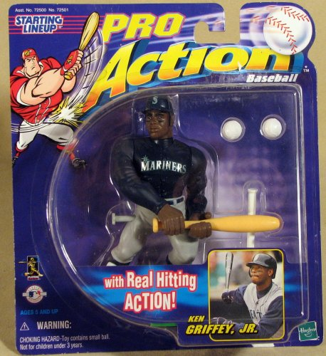 1998 - Hasbro - Starting Lineup - Pro Action Baseball - Ken Griffey Jr - Seattle Mariners - With Real Hitting Action - Limited Edition - Collectible