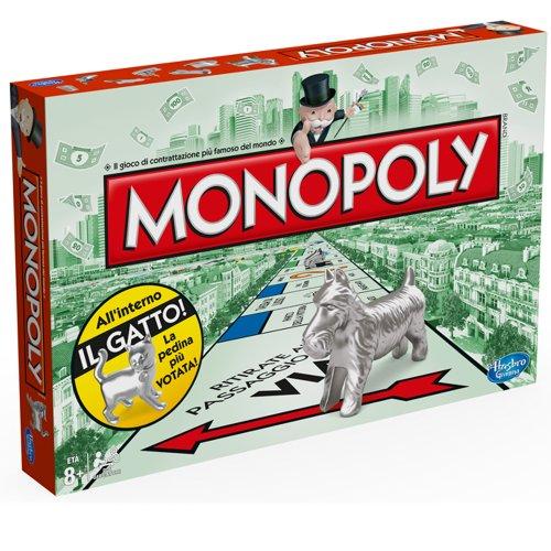 Hasbro - Monopoly Rettangolare, in Italiano