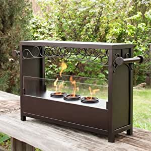 Bryden portable indoor outdoor fireplace gel fuel for Amazon prime fire pit