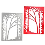 Lady Time Clearance!!Tree Metal Cutting Dies Stencil Scrapbooking Photo Paper Cards Crafts Embossing DIY (Color: A)