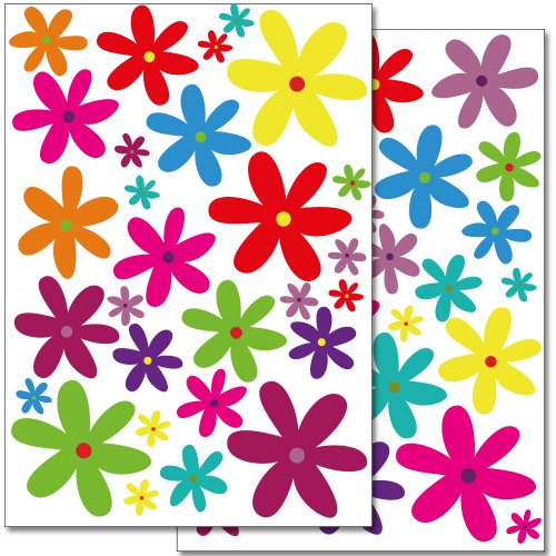 adesivi-da-parete-wandkings-fiori-colorati-design-2-set-adesivi-56-adesivi-su-2-fogli-din-a4